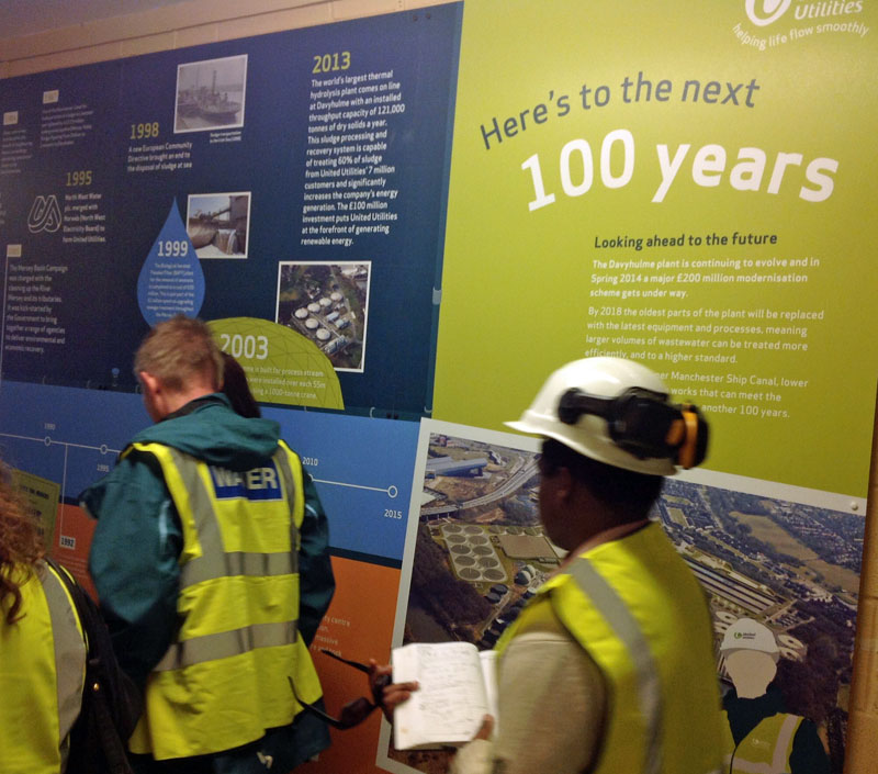 Photo: Display board explaining another £200 million investment is now starting as part of the plant's next 100 years!