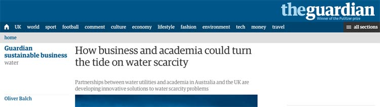 Photo: Headline of the piece in The Guardian.
