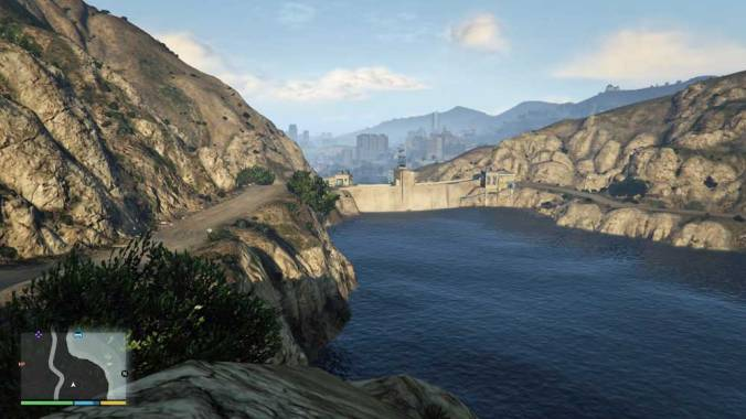 Photo: A reservoir in GTA V.