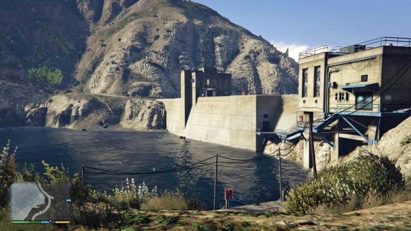 Photo: The dam holding back this reservoir in GTA V.