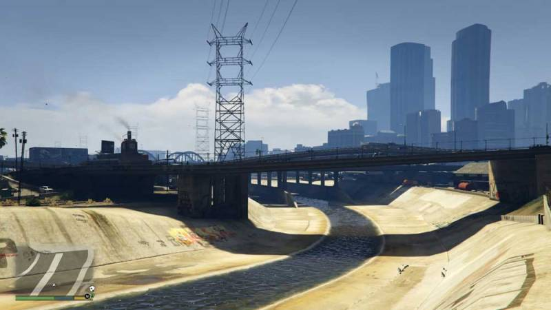 Photo: GTA's stylisation of the Los Angeles River and associated storm drain systems.