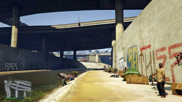 Photo: Some social commentary in GTA too around this infrastructure...