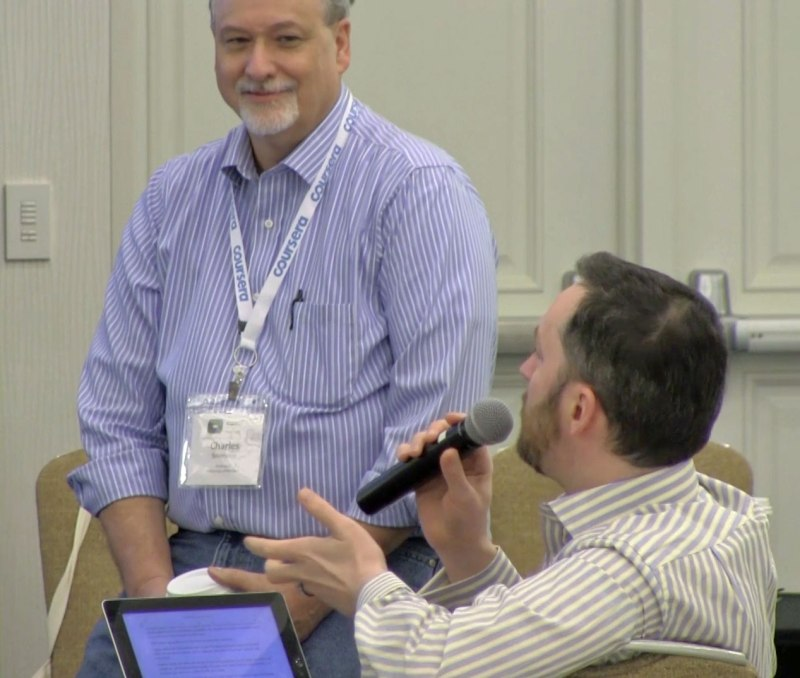 Photo: After-panel Q&A with MOOC star, Dr Chuck.