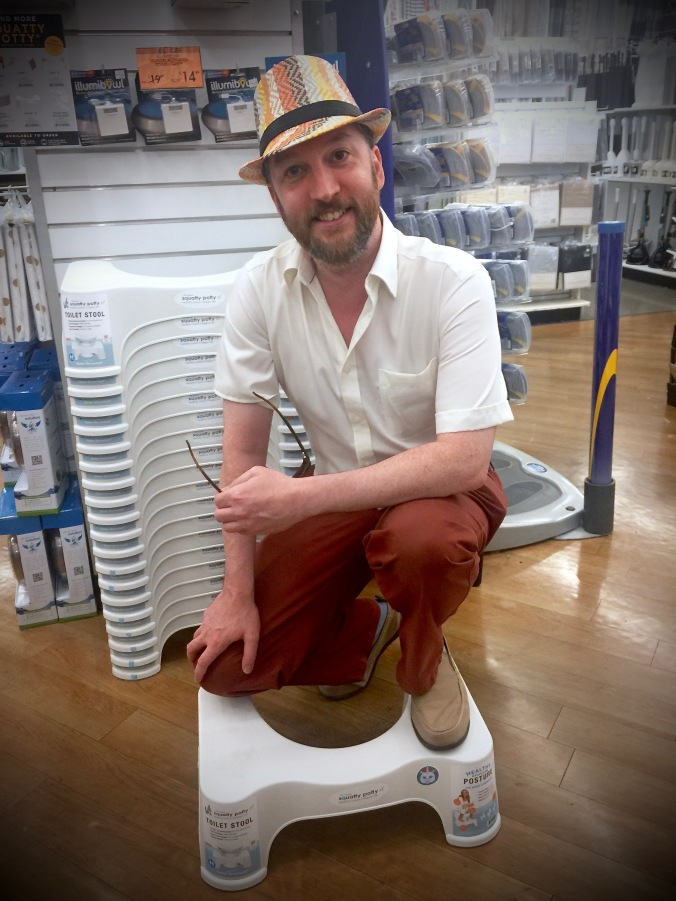 Photo: Me on a Squatty Potty. Source: Picture by Scot Corrie.