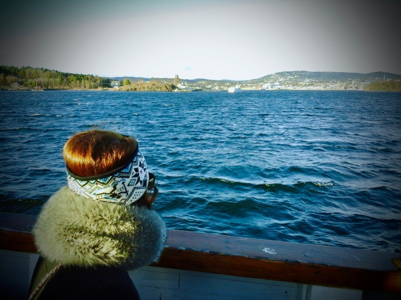 Photo: My recently acquired Dale headband keeping someone else warm on the Oslofjord!
